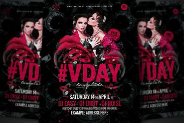 V-Day Flyer Template by pixelfrei