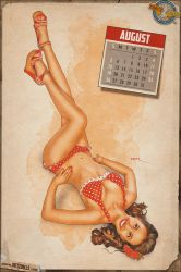 Pinups - August in Red by warbirdphotographer