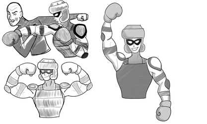 The Champ - Sketch Shots by Troyodon