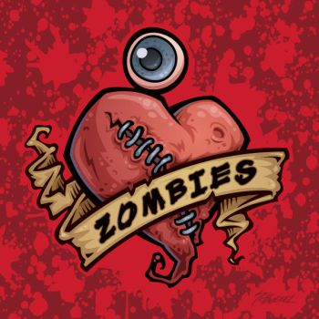 I Love Zombies with Blood by fizzgig