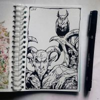 Instaart - Creatures of the night by Candra