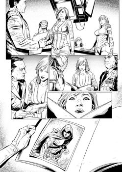 Lineart  Red Agent#2 Pg05 by EmanuelBraga