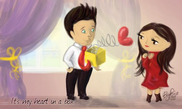 Valentine's, heart in a box by busybea