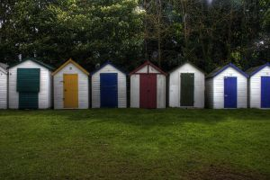 Beach huts. by jon3782001