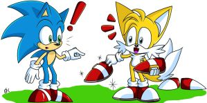.: Hey Sonic! Try this on! :. by Tails1998