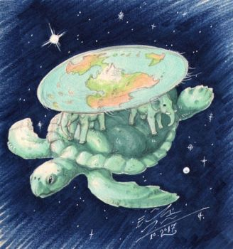 The Great A'Tuin by Paperiapina