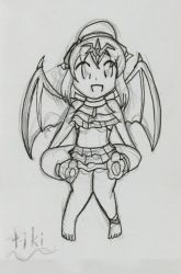 Heroic Summer Cards: 15 ~ Young Tiki by Xero-J