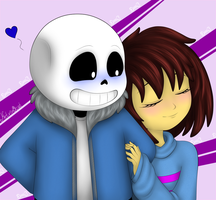 Frisk and Sans by Ketrin0cat