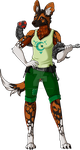 Painted Wolf Mechanic Adopt - OPEN (lowered price)