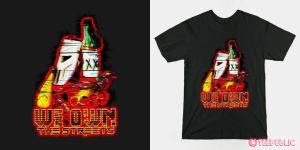 tee design:WE OWN THE STREETS(VIGILANTE'S PROMISE) by andehpinkard
