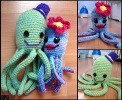 Octopus Plushies by Petra0
