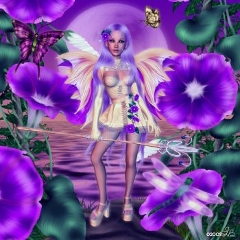 Beneath the Morning Glories by ShellyBrown