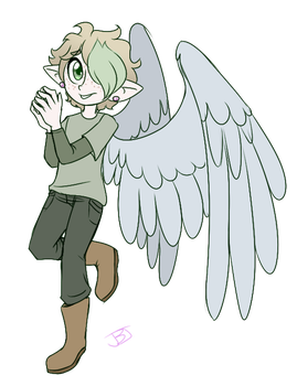 The-Caster-Of-Spells Winged Boi by JitterbugJive
