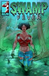 Swamp Fever - Well-built Wetland Woman by muscle-fan-comics