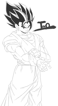 Vegetto - LineArt by Theo001
