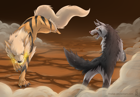 Arcanine Vs Mightyena
