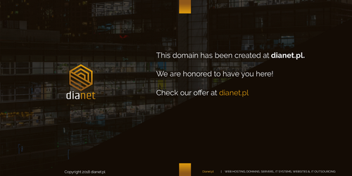 Domain parking site - dianet by miguslaw