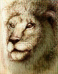 Graph Paper Lion by noblewebs