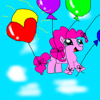 Just a random drawing of Pinkie Pie being random by Nature-Princess