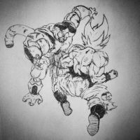 Goku's Final Blow: The End of Frieza by unionjake