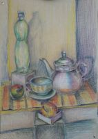 StillLife With Rainbow Kettle by great-queen-morrigan