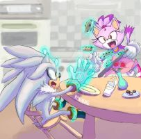 Silver and  blaze doodle by Kyunae