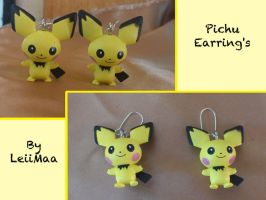 Pokemon Pichu Earrings