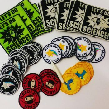 embroidered patches and badges by MechanicalApple