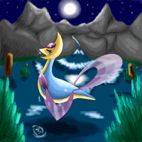 Cresselia and the moonnight
