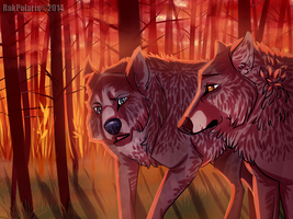 Fall's Wolves by RakPolaris