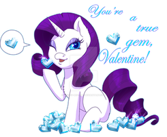 Rarity's Valentine by Wicked-RED-Art