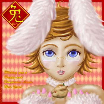 Happy Bunny Year by AngelFether