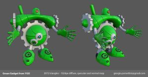 Lowpoly Green Gadget from YGO by MightyDargor