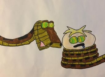 butters hypnotised by kaa the snake by southparkerkid