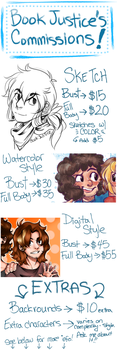 Commissions Info! by BookJustice