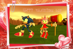 Sonic and Amy Valentines Day Card by AlexanderGantt