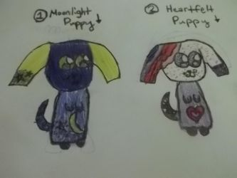 Moonlight Puppy and Heartfelt Puppy Adoptables by Suzuki108