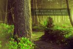 The Forest Whispers Green Stock by TEMPERATE-SAGE