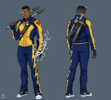 Black Lightning (ME-1) commission by phil-cho