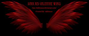 Dark Red Valentine Wings - Fractal by mkbrouse
