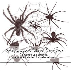 Ischarm Spider Brushes 001 by ischarm-stock