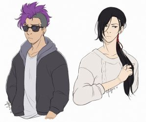 Banana Fish - Shorter and Yut Lung by midgaardian