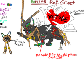 Daplier ref sheet by Nonacrone