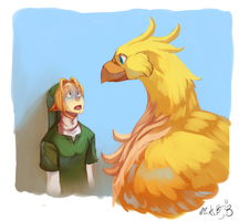 That's a big chicken by BloodnSpice
