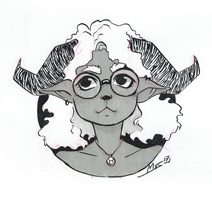 Inktober day 19 : Horns by Dalblauw
