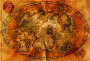 Black Dragon Tamriel Tactical Map by SkullSmithy
