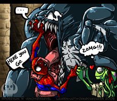 ZOMG Spiderman and Venom by DaKraken