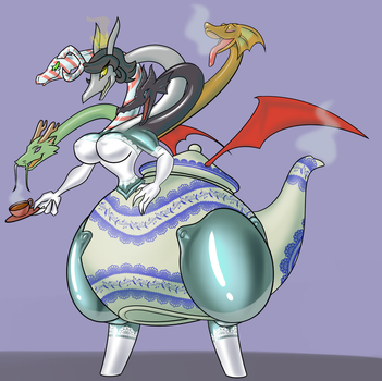 Tea-a-mat The God Queen of Tea...and Dragons by Toonvasion