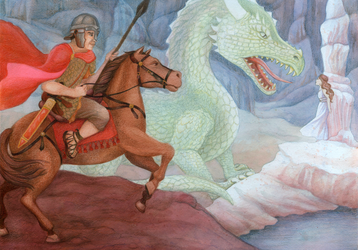 Saint George and the Dragon by LnatalieC