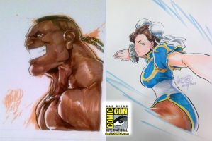 SDCC 02 - DeeJay and Chun-li by theCHAMBA